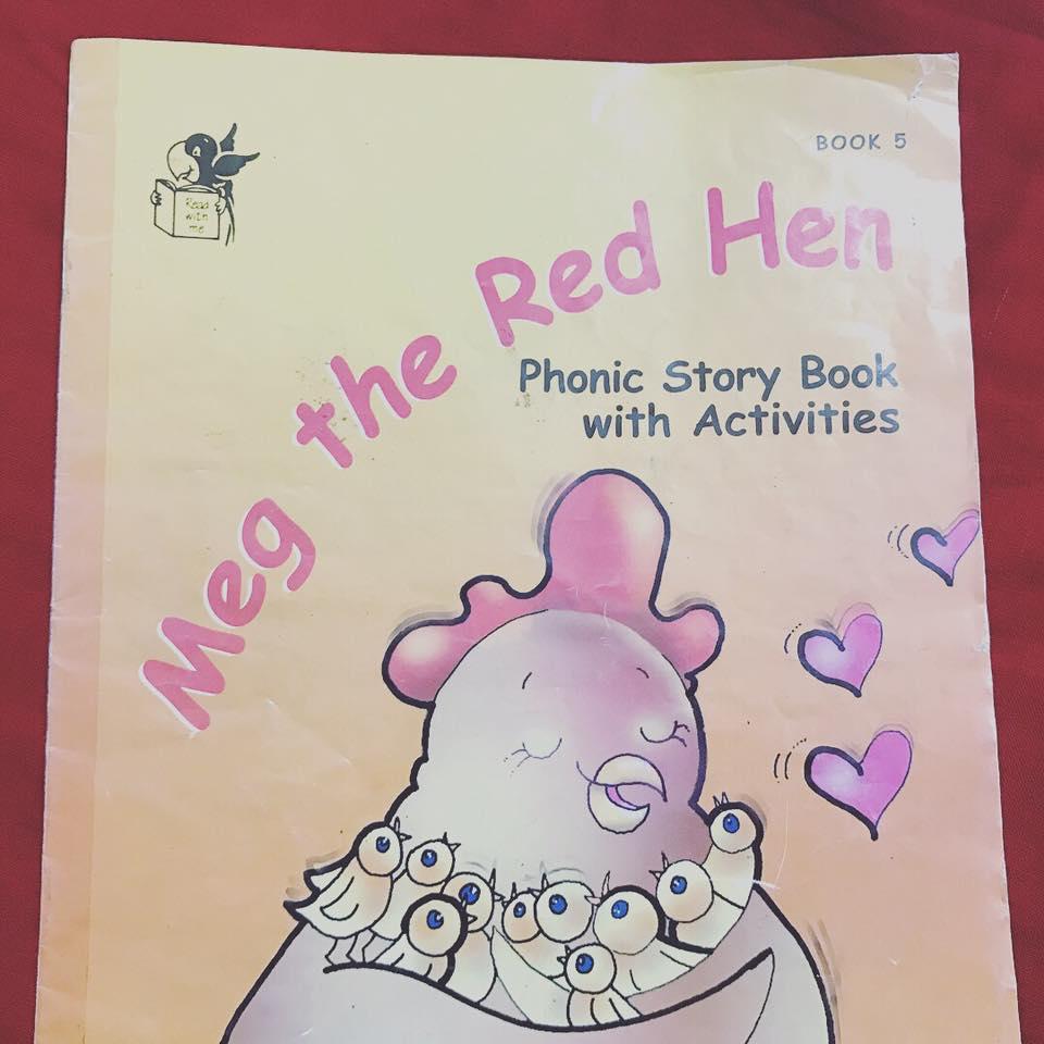 Meg the red hen