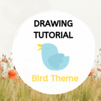 Drawing Tutorial - Birds Theme