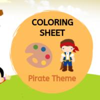 Coloring Sheet - Pirate Theme
