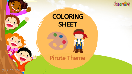 Coloring Sheet – Pirate Theme