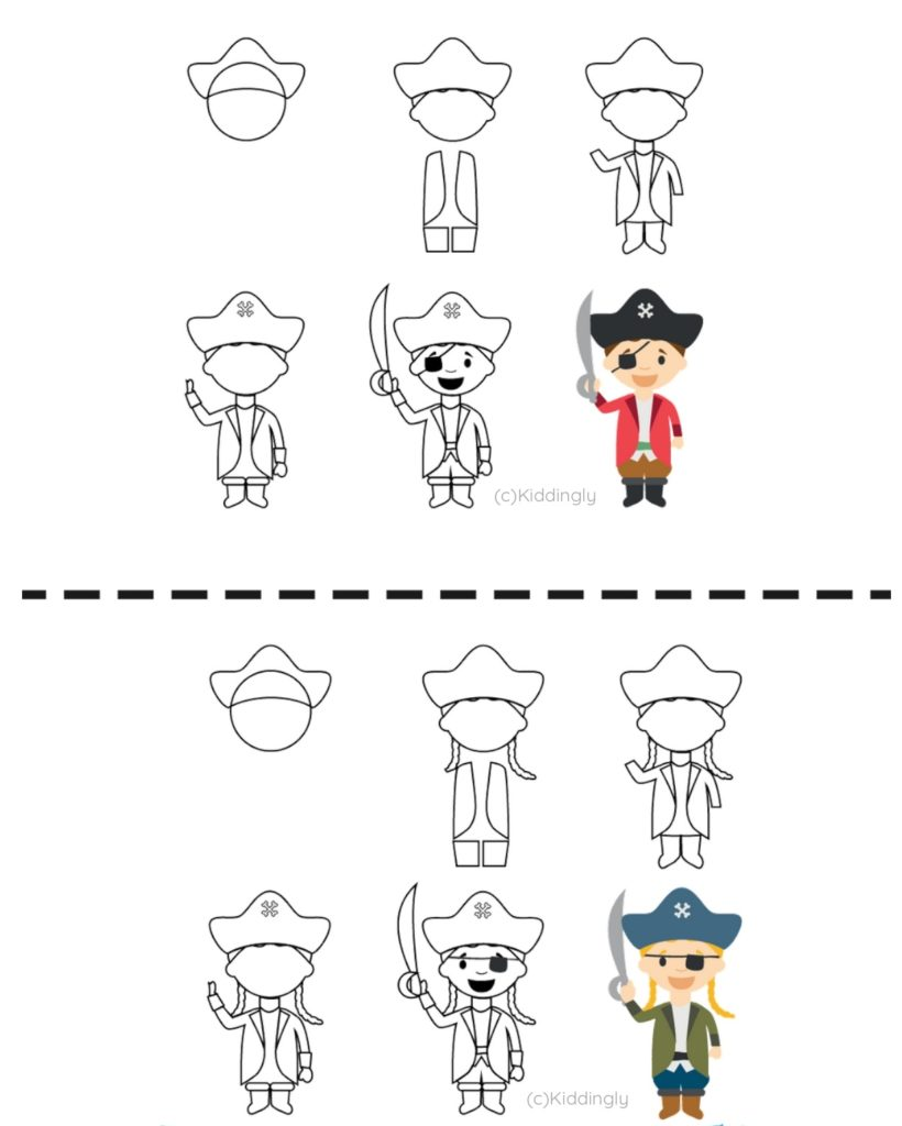 Drawing Tutorial - Pirate Theme - Pirates By Kiddingly page 0010 820x1024