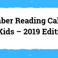 Reading Calendar For Kids - September 2019 Edition