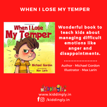 When I Lose My Temper – Children Book Review