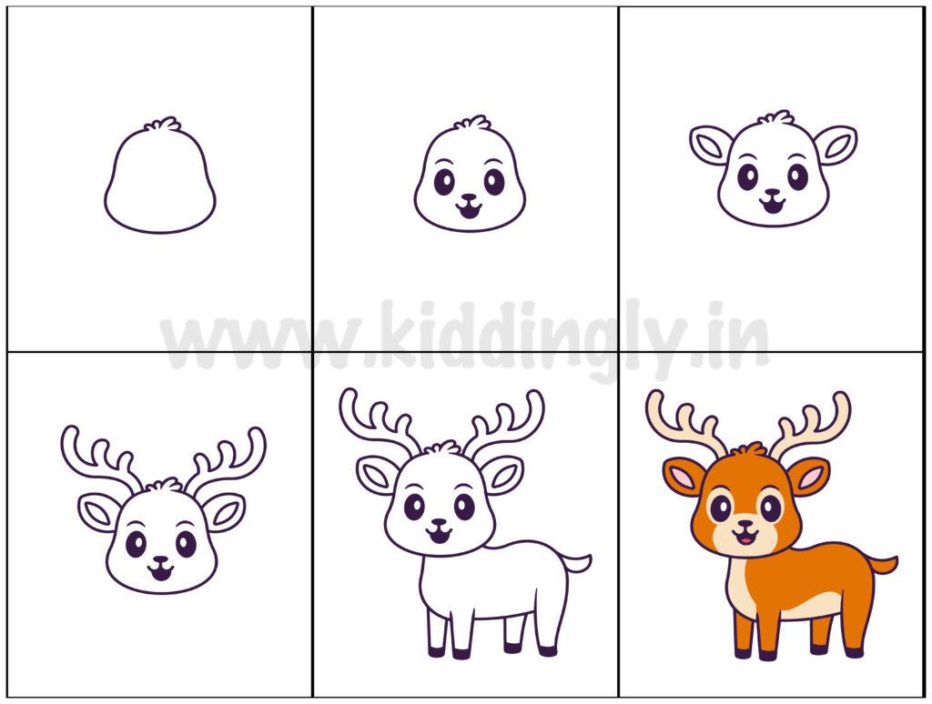 Kiddingly - ReindeerDrawingTutorial Kiddingly 1024x774
