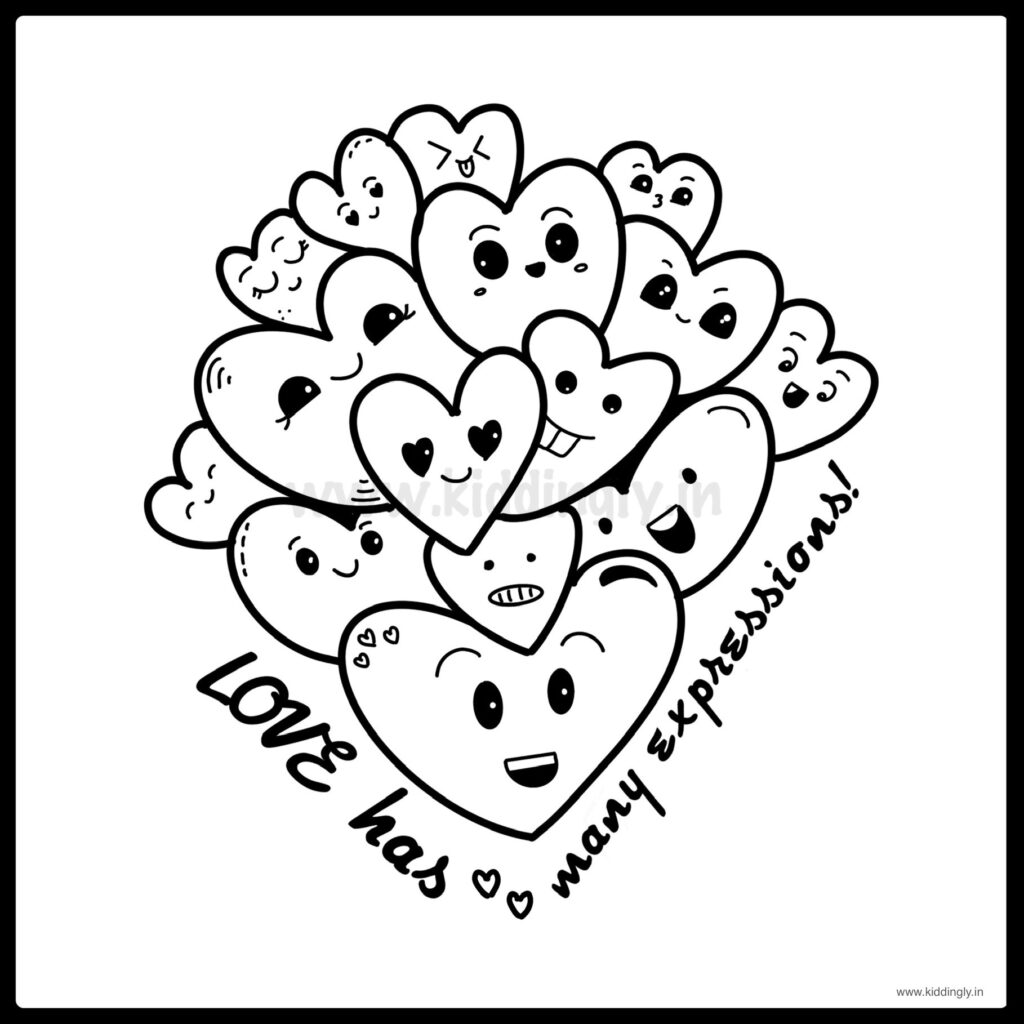 Kiddingly - Heart Doodle Kids Kiddingly 1024x1024