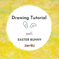 Kiddingly - How to draw Easter Bunny Kids Art 200x200